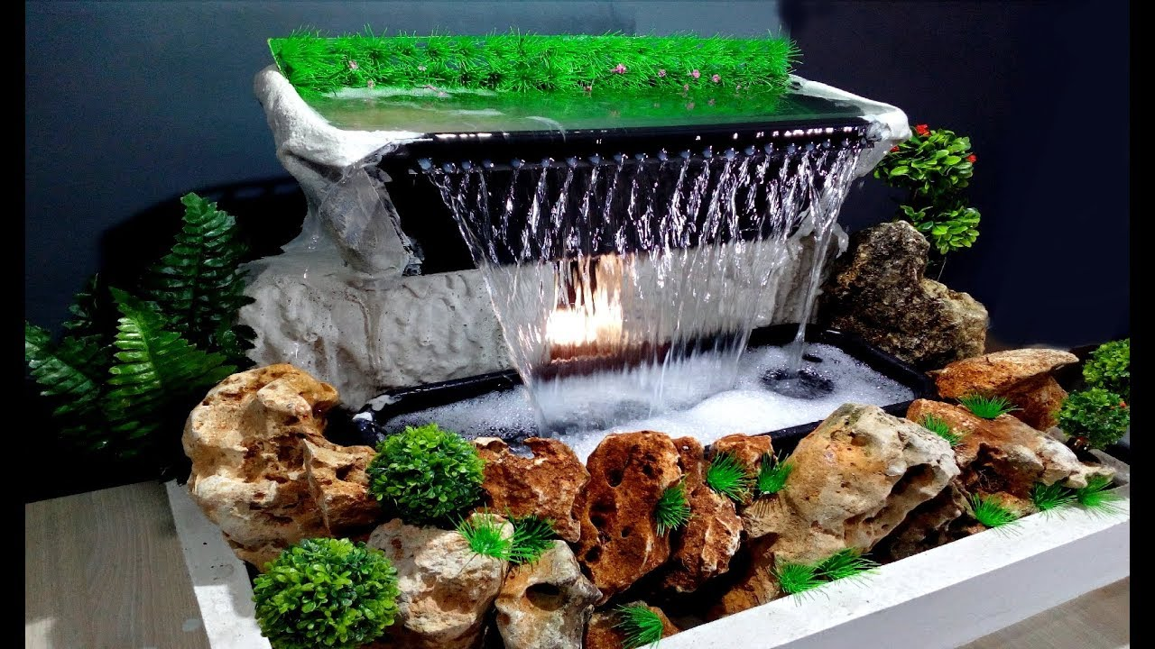 How To Make Beautiful Waterfall At Home Very Easy Diy