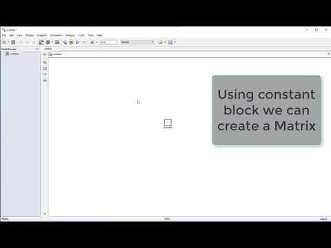 How To Create Matrix Using MATLAB Simulink