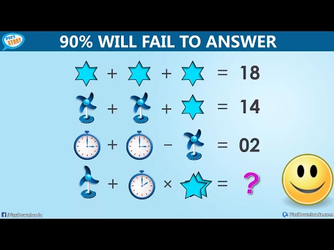 The Table Fan, Clock and Star Puzzle – Viral Facebook Math Puzzle [with Answer]