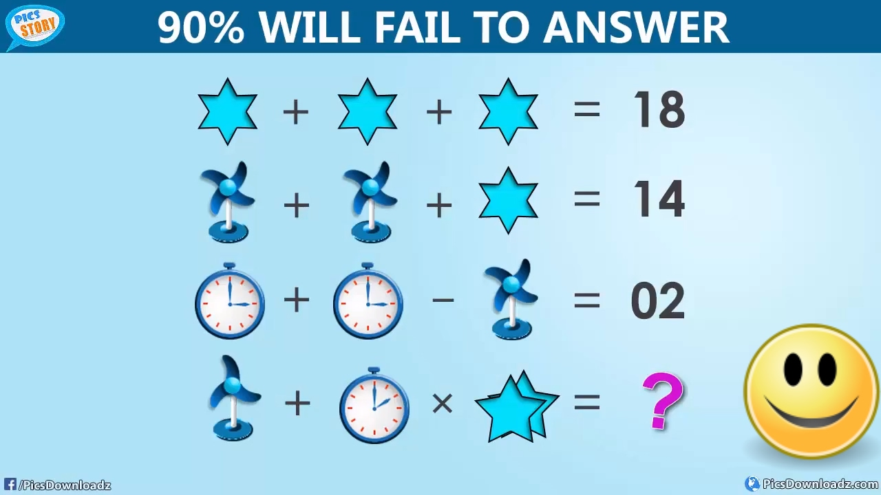 The Table Fan, Clock and Star Puzzle – Viral Facebook Math Puzzle ...
