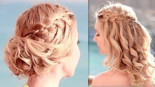 Вечерние причёски на свадьбу, выпускной, быстро и легко, самой себе, для средних/длинных волос
