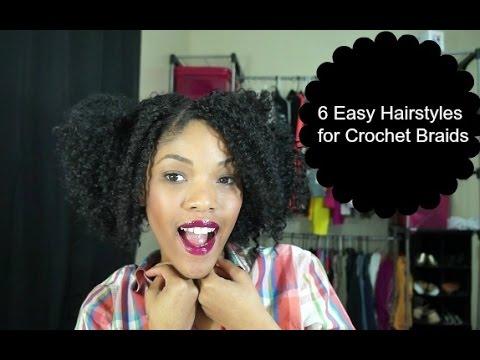 6 easy hairstyles crochet braids
