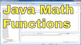 Java Tutorial - 15 - Poẁers and Square Roots (Math Functions)