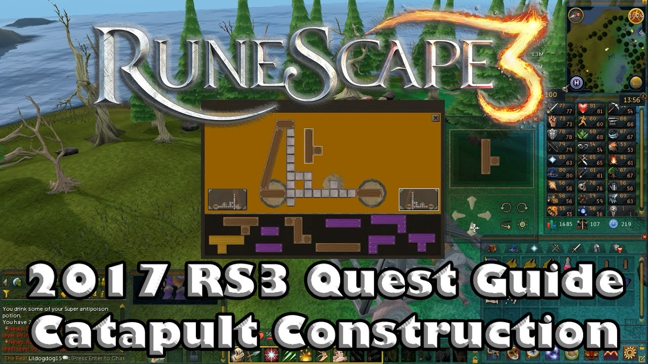 Runescape catapult construction quest guide youtube.