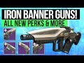 Destiny 2 | NEW IRON BANNER WEAPONS! - Season 2 Iron Banner Weapons, All Perk Rolls & Rewards!