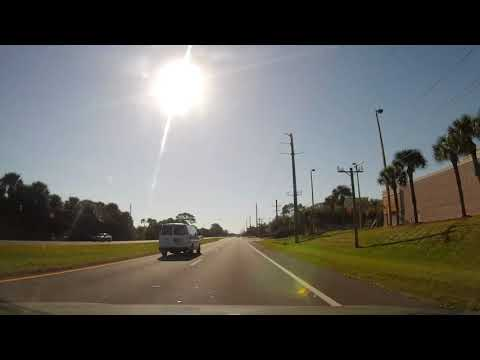 Driving From Titusville To Cocoa, Florida On US 1