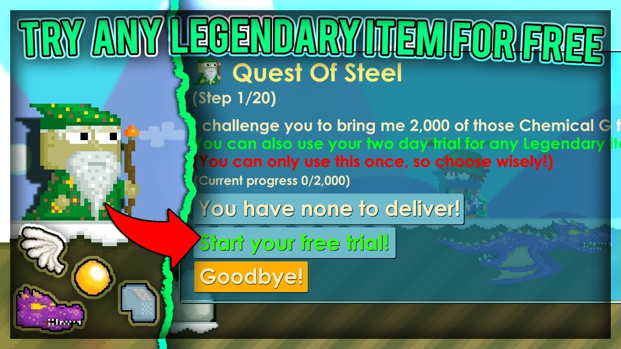 Steel Chair Growtopia Grow With Me How To Try Out Any Legendary Item For Free Private Server Showcase