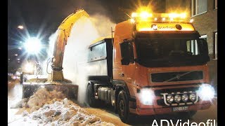 Snowblower Wheel loader & Motor Grader - snowclearing -  Sweden - 4K