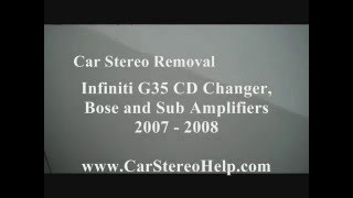 How To Infiniti G35 Trunk CD Changer 6 Bose And Sub Amp Speaker Woofer Amplifier Removal 2007 - 2008