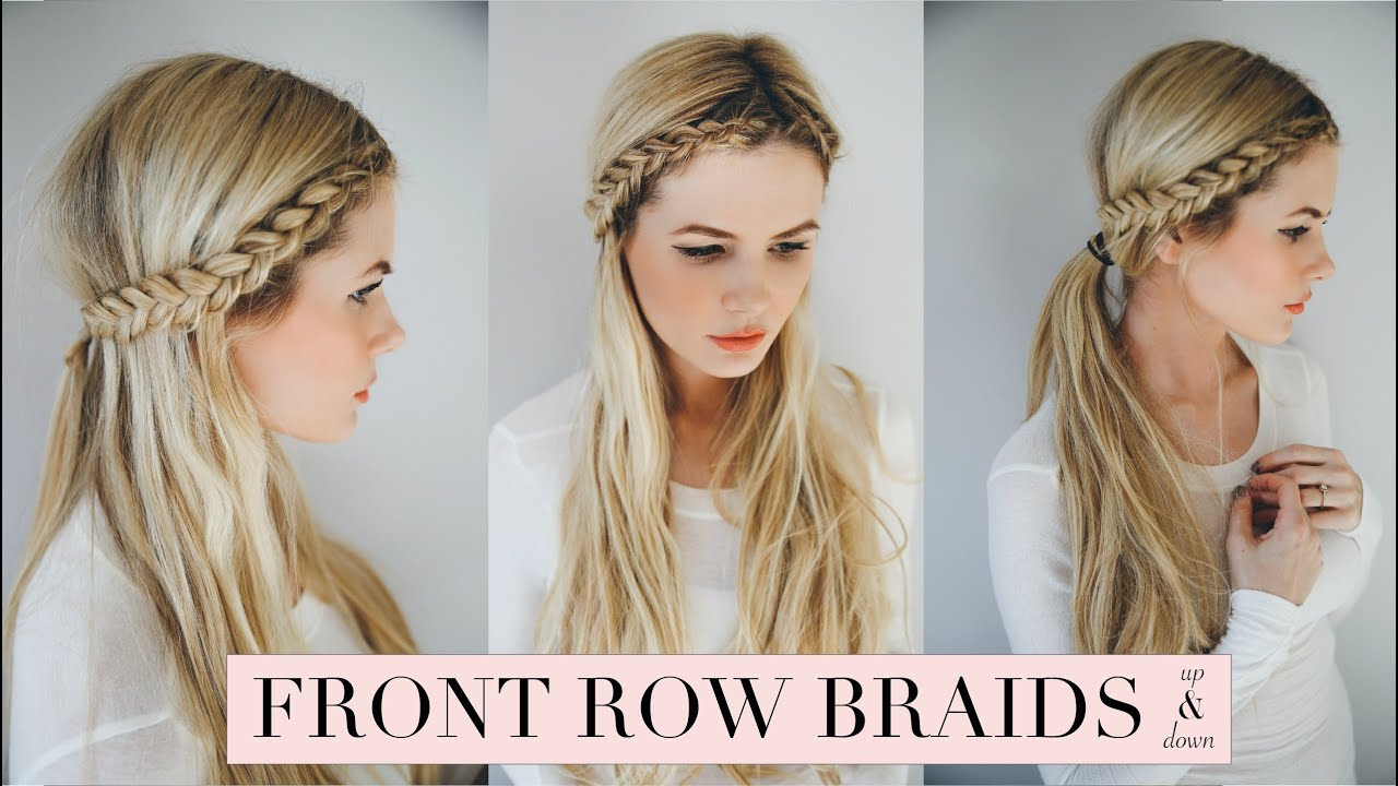Cute Hairstyles With Dutch Braids: Front Row Braid - YouTube
