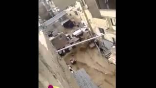السيول في ركن الدين تجرف السيارات والمنازل وحتى البشر