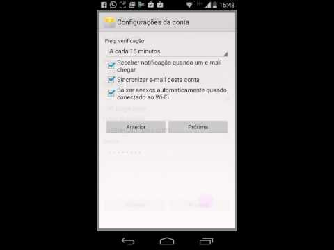 Configurar Email POP / IMAP no Celular