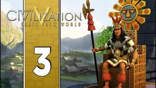 I Love Terrace Farms - Let's Play Civilization V Gameplay (Deity Gameplay) - Incas - Part 3