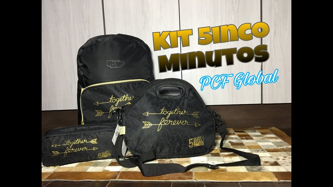 df367f2bd Kit Mochila + Lancheira + Estojo Kéfera (5inco Minutos) - PCF Global -  Top's Virtual