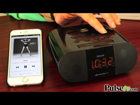 Bluetooth Alarm Clock Radio with Rapid Charging USB Port by SoundLogic