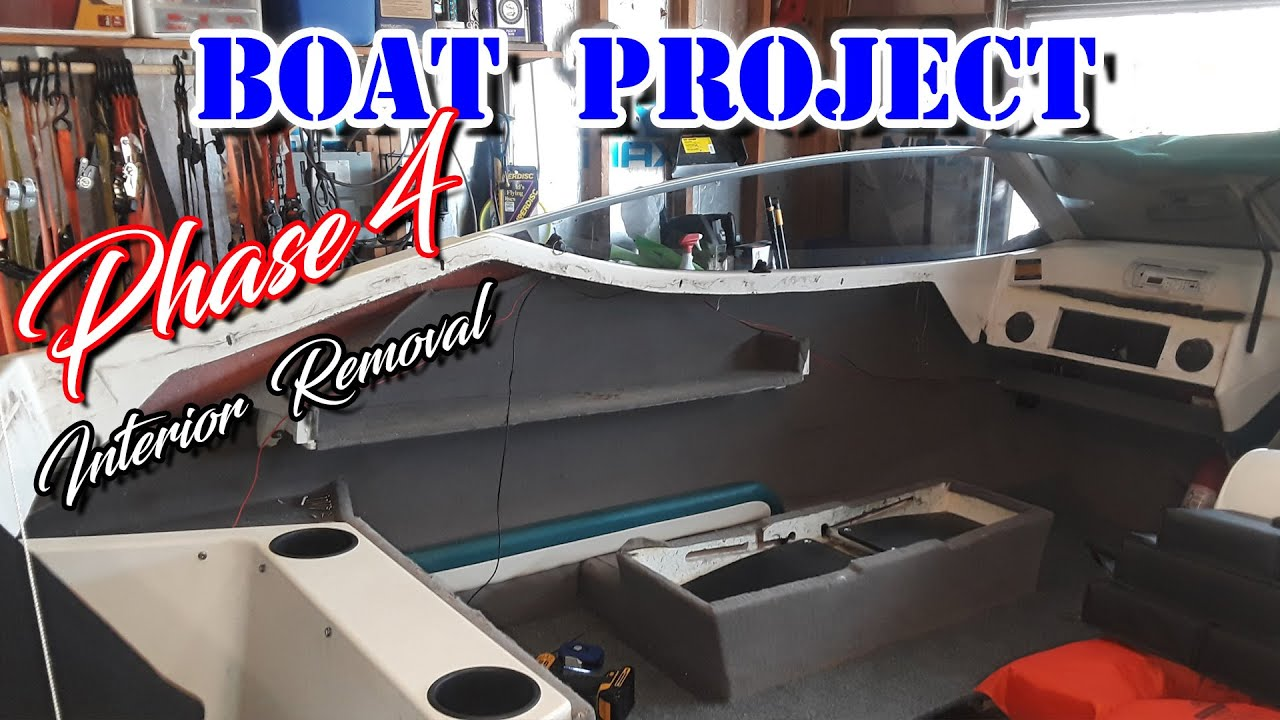 How To Remove Boat Interior Side Panels Boat Restoration Upholstery Diy Project 1992 Bayliner Capri Youtube