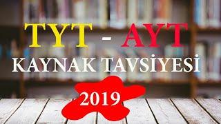 2019 TYT - AYT KAYNAK TAVSİYESİ | 2019 TAYFA YKS KİTAP ÖNERİLERİ