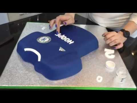 da6402ffc How to make a Chelsea football shirt Cake - YouTube