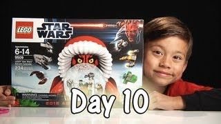 Day 10 LEGO STAR WARS Advent Calendar Review Set 9509 - 2012 -  Stop Motion & FREE CODE