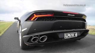 2015 Lamborghini Huracan LP 610-4 0-100km/h & engine sound. Head ov...