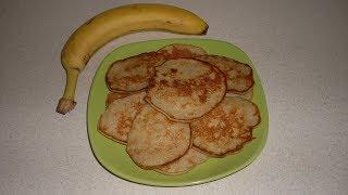 Вкусненькие банановые оладьи на молоке