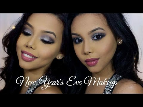 Silver Smokey Eyes + Glitter Liner | New Year's Eve Makeup