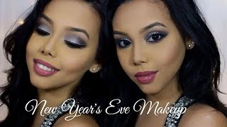 silver smokey eyes glitter liner   new year s eve makeup