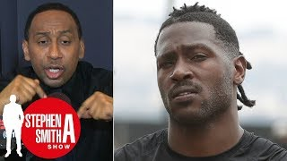 Stephen A. Smith Reacts to New England moving on from Antonio Brown?