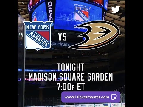 NHL 19 PS4. REGULAR SEASON 2018-2019: Anaheim DUCKS VS New York RANGERS. 12.18.2018. (NBCSN) !