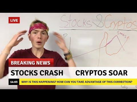 STOCKS VS CRYPTOCURRENCY 📈 STOCK MARKET CRASH 2018