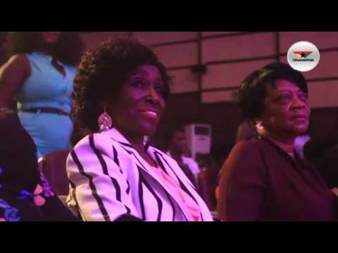 Konadu Rawlings dances to Ofori Amponsah's 'Alewa' at the Easter Comedy Show