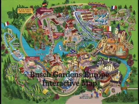 Busch Gardens Europe Interactive Park Map Youtube