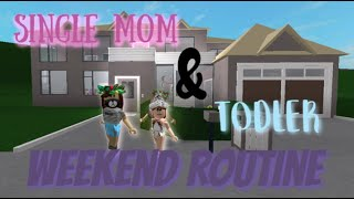Single mom and Toddler Weekend Daily Routine | Roblox Bloxburg Roleplay
