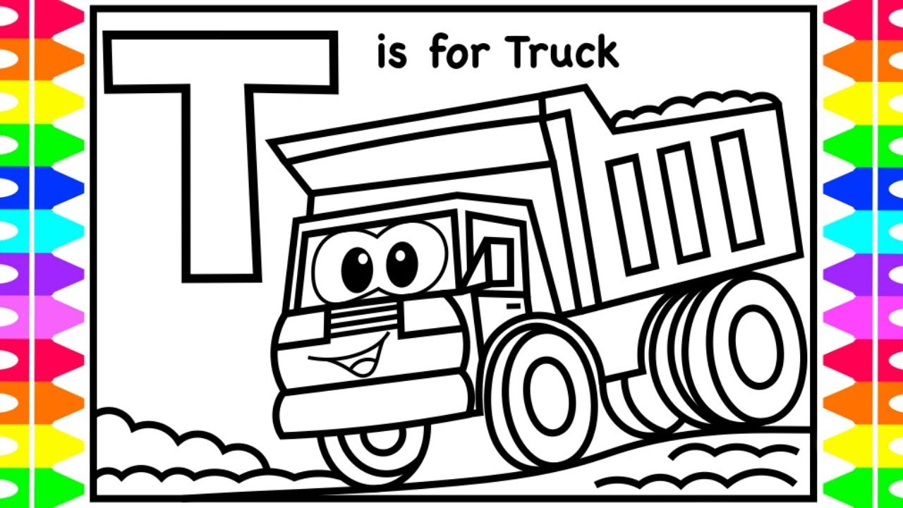 ABC Coloring | T is for Truck | Dump Truck Coloring Pages ...