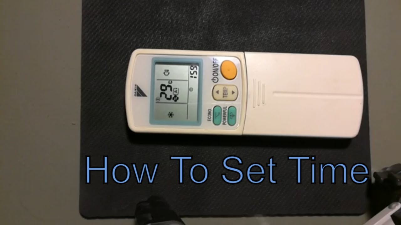 How To Set Time On Daikin Ac Remote Controller Youtube