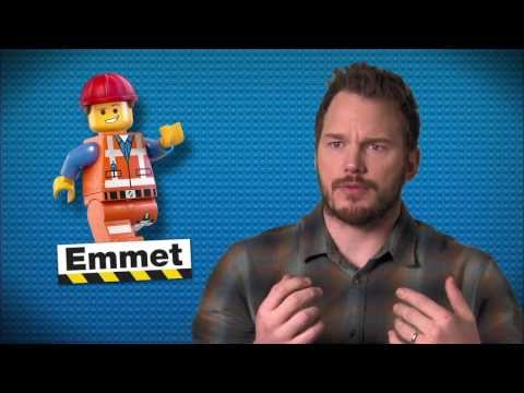 "The Lego Movie: Chris Pratt ""Emmet"" On Set Movie Interview"