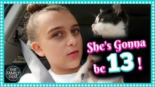 SHE'S GONNA BE 13!! EXCITING HOUSE NEWS!!