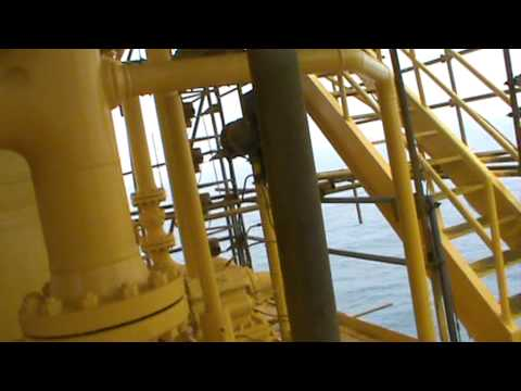 Blasting  and Paint Of Oil Rig In Nigeria