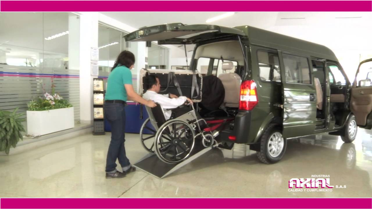 Vehiculo para transporte de discapacitados youtube for Coches con silla para carro