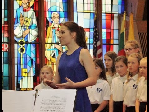 Panis Angelicus (Pavarotti & Charlotte Church) by teenage Soprano Agne G with Children's Choir