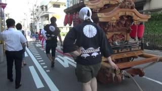 2014年 大阪 五條宮・夏まつり② 小型だんじり