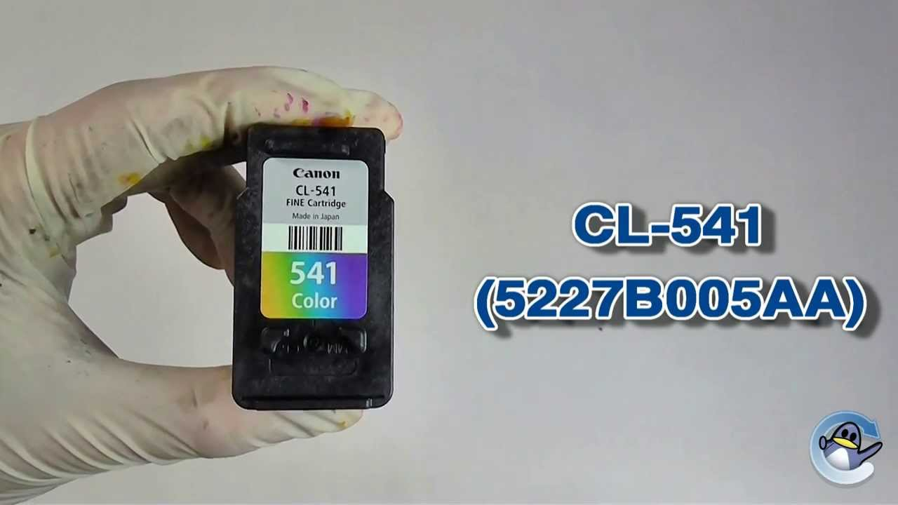 How To Refill Canon Cl 541 5227b005aa Colour Ink Cartridge Youtube Tinta 811 Original 100
