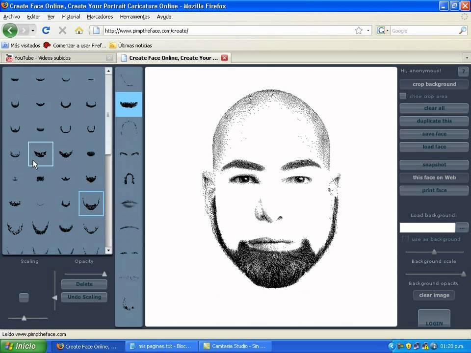 Pagina para dibujar rostros youtube for Programas para dibujar