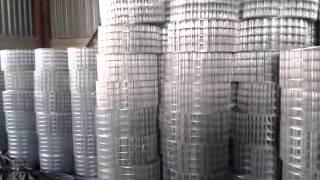 видео Сетка сварная оцинкованная 6х6х0.6 мм, 1х15 м