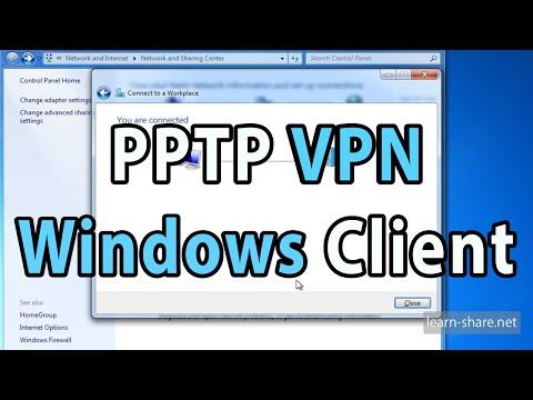 Setup PPTP VPN Client on Windows