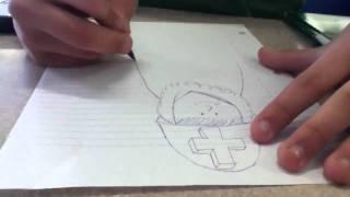 Benz time laps drawings: Amish army midget leprechaun man