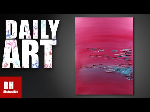 Easy Abstract Painting / Fun with Acrylics / One Brush / #62