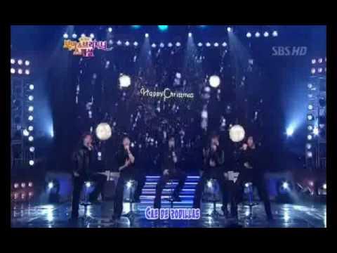Debut de DBSK- Oh Holy Night con BoA +  Hug  26-DIC-2003