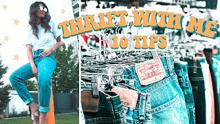 THRIFT WITH ME VLOG | 10 Tips to be a THRIFT QUEEN