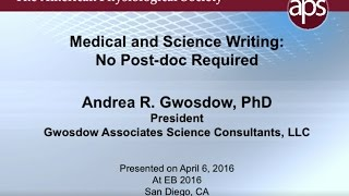 Medical Writing: Post-doc Not Required – 2016 Trainee Symp Pt 5